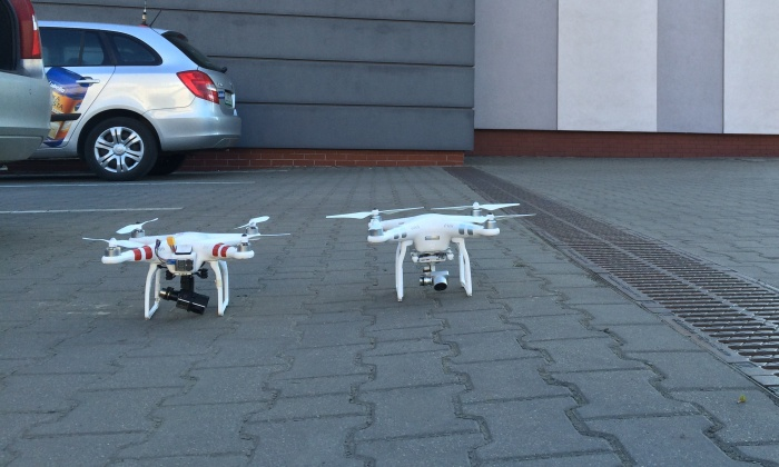Drony Phantom 1 i Phantom 3 w Lublinie