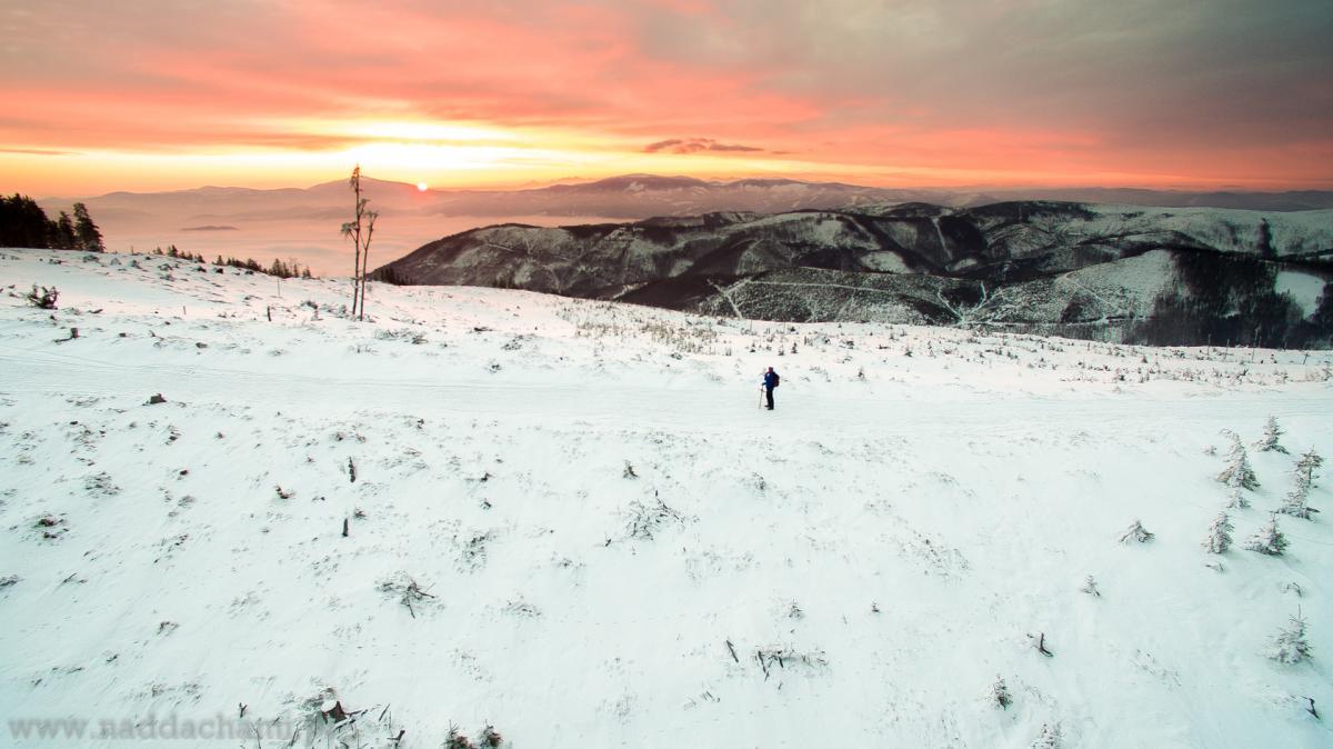 Filmowanie dronem w zimie - Małe Skrzyczne