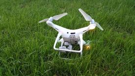 Upadek drona DJI Phantom 4