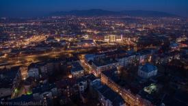 Bielsko-Biała po zmroku