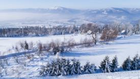 Zdjęcie z drona w zimie
