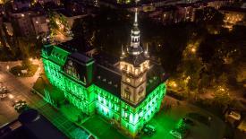 Ratusz w Bielsku na zielono