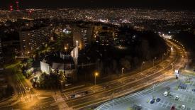 Osiedle Karpackie nocą - Bielsko-Biała