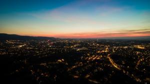 Bielsko nocą z drona