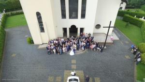 Dron na ślubie