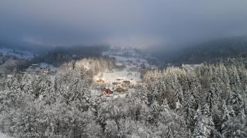 Latanie dronem w zimie