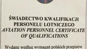 Świadectwo Kwalifikacji UAVO