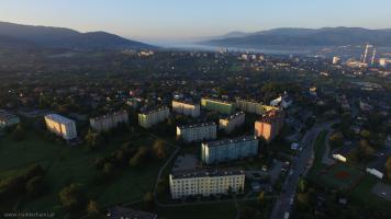 Bielsko-Biała Krakowska z powietrza