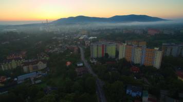 Bielsko z drona - osiedle Karpackie