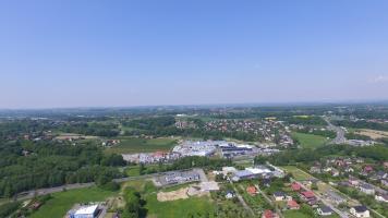 Bielsko-Biała Komorowice z drona Nad dachami