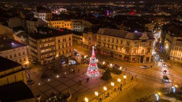 Choinka Bielsko-Biała 2018 Plac Chrobrego
