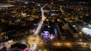 Czechowice nocą
