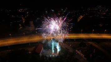 Sztuczne ognie na weselu z drona