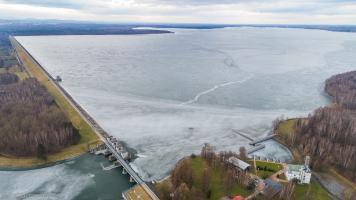 Jezioro Goczałkowice z drona