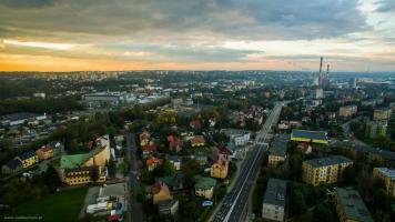 Bielsko-Biała Leszczyny z drona - zdjęcie z powietrza