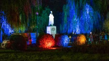 Miasto Światła Bielsko-Biała Pokaz Iluminacji w Parku Włókniarzy