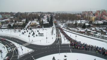 Orszak Trzech Króli Bielsko-Biała 2017 - Rondo Hulanka