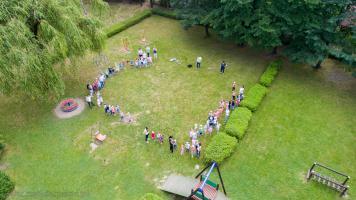 Pokaz dronów w Przedszkolu