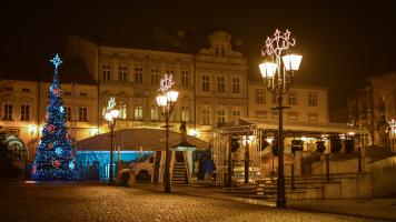 Rynek Bielsko nocą