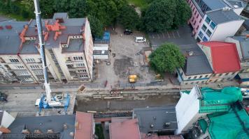 Odkryty potok Niwka podczas remontu ulicy Stojałowskiego