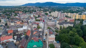 Panorama Bielska podczas remontu ulicy Stojałowskiego