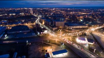 Tychy dron timelapse