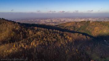 Bielsko-Biała widoczne z gór